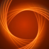 Smooth light orange waves lines vector abstract background. Royalty Free Stock Image