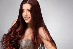 Smooth Long Hair. High quality image Royalty Free Stock Photography