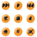Smooth media player buttons Stock Image