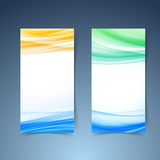 Smooth modern abstract vertical card collection. Layout design. Vector illustration Stock Images