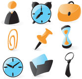 Smooth office icons. Set of smooth and glossy office icons. Vector illustration Stock Images
