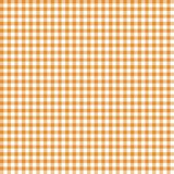 Smooth Gingham Seamless Pattern. Smooth orange and white classic gingham texture stock illustration