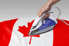 Smooth out the wrinkles of Flag-Canada Royalty Free Stock Images