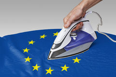 Smooth out the wrinkles of Flag-Europe Royalty Free Stock Image