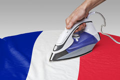 Smooth out the wrinkles of Flag-FR Stock Photos