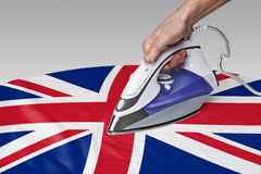 Smooth out the wrinkles of Flag-Great Britain Stock Photos