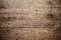 Smooth parquet laminate brown. Laminate flooring planks floor brown Royalty Free Stock Photography