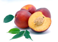 Smooth peaches and a half Stock Image