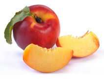 Smooth peaches and a half Royalty Free Stock Photography
