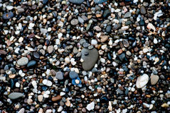 Smooth polished multicolored stones Stock Image