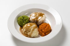 Smooth pure meal, hospital food. Royalty Free Stock Photography