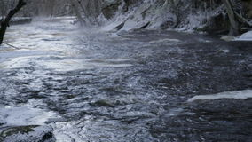 Smooth rapids of water in the river stock video footage