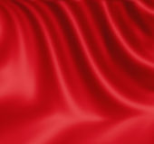 Smooth red satin Stock Photos