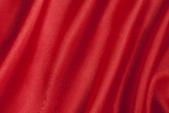 Smooth red satin  background Royalty Free Stock Photo