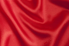 Smooth red satin  background Stock Photo