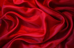 Smooth Red Silk as background Stock Photos