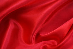 Smooth Red Silk as background Stock Images