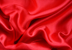 Smooth Red Silk as background Stock Photography