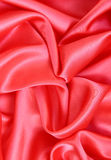 Smooth Red Silk as background Stock Photo
