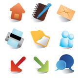 Smooth render web icons Royalty Free Stock Photography