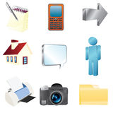 Smooth render web icons Royalty Free Stock Images