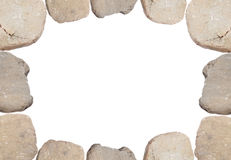 Smooth River Rocks. Make this Border or Background Image Royalty Free Stock Photos