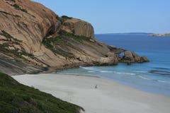 Smooth Rock Coastline of Australia Royalty Free Stock Images