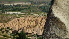 Smooth rock formations in the countryside