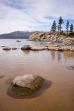 Smooth Rocks Clear Water Lake Tahoe Sand Harbor Royalty Free Stock Photo