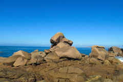 Smooth rocks at seaside stock photography