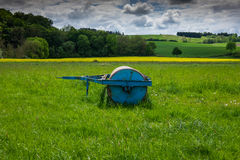 Smooth roller in s field in the sunlight Royalty Free Stock Photography