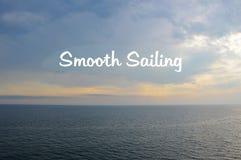 Smooth sailing, surface Stock Photos