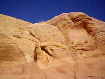 Smooth Sandstone Cliff Royalty Free Stock Photo