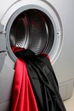 Smooth satin fabric in a washing machine Stock Images