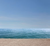 smooth sea and sea beach in the empty with copy space. Royalty Free Stock Images