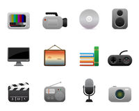 smooth series > media icons Royalty Free Stock Photo