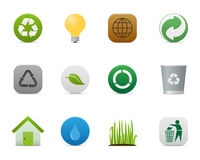 Smooth series > recycle icons Royalty Free Stock Photography