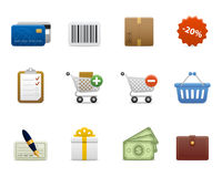 Smooth series > shopping icons Royalty Free Stock Image