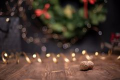 Smooth shady christmas and new year decoration background with round bokeh and champagne cork. Smooth shady christmas and new year decoration background with royalty free stock photos