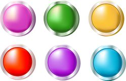 Smooth Shiny Buttons Stock Image
