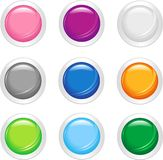 Smooth Shiny Buttons Royalty Free Stock Photos