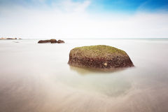 Smooth silky sea view Stock Photography