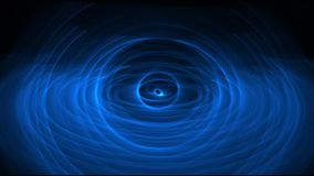 Smooth and slowly trasformation of energy blue circles stock video footage
