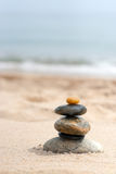 Smooth Stacked Rocks Royalty Free Stock Photos