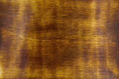 Smooth Stained Wood Background Close Up Stock Image