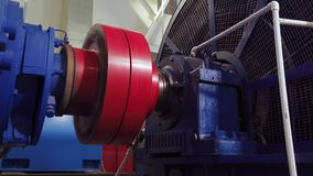Smooth start of the high-voltage electric motor. Rotation of the coupling on the electric motor. 4k