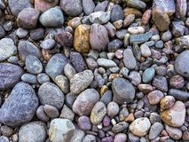 Stones on the shore royalty free stock photography