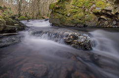 Smooth Stream. Smooth Water Stream with Rocks royalty free stock photo