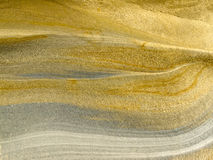 Smooth surface of layered sandstone sediment rock Stock Image