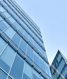 Smooth surface of panoramic modern buildings Royalty Free Stock Images